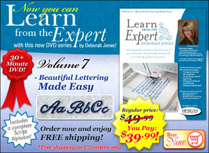DIME LFE0070 Learn from Expert Deborah Jones Volume 7 Beautiful Lettering Made Easy 30 Minute DVD