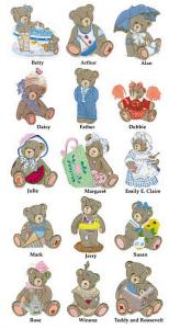 Amazing Designs CT1 Cherished Teddies Collection I Embroidery Cards
