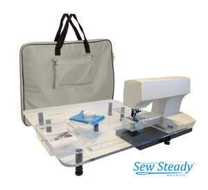 Sew Steady, ULTIMATE, Table, Package, Large, 18x24, Big, 24x24, Extension Table, Sewing, Embroidery Machine, Travel Bag, Spinner Tray, Universal Sew Straight Guide