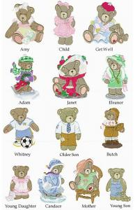 Amazing Designs CT3 Cherished Teddies Collection III Embroidery Cards