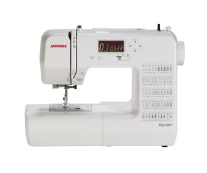 Janome, DC1050, 50 Stitch, Computer, Sewing Machine, 3 One-Step Buttonholes, Manual Tension Controls, Slide-On Presser Feet, Threader, Prog Needle Up Down