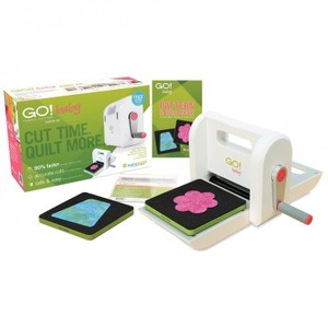 "AccuQuilt Demo 55600 Go Baby Starter Set, Quilt Fabric Die Block Strip Cutter Machine, 2 Dies, Mat, Cut 6""W x 6 Layers, 8 Lbs, 6Mo 0% Financing*"