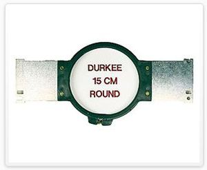 "Durkee JN-15cm 15 cm Round (5 5/8"" Diameter) Embroidery Hoop for Janome MB4 Embroidery Machine"