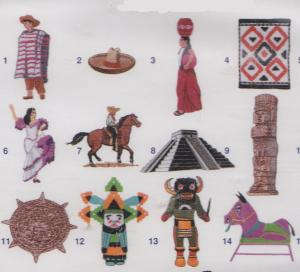 Elna MCU101 Mexican Designs Envision Embroidery Card SEW Format