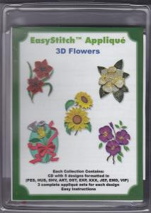 Dalco EasyStitch Appliques 3D Flowers Collection Multi-Formatted CD