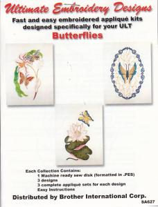 Dalco sa627 Butterflies 6 X 10 Collection Applique Designs Disk