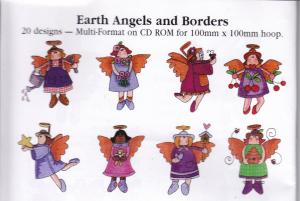 Earth Angels Embroidery Designs Multi-Formatted CD 20 Angels and Borders