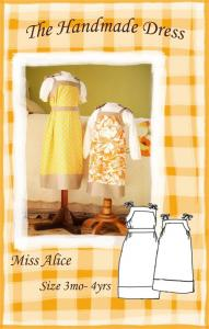 The Handmade Dress HDP107 Miss Alice Dress Pattern Size 3mo to 4 years