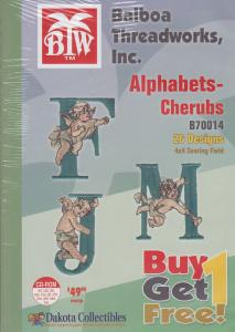 Dakota Collectibles / Balboa Threadworks B70014 Alphabets and Cherubs Multi-Formatted CD Buy 1 Get 1 Free