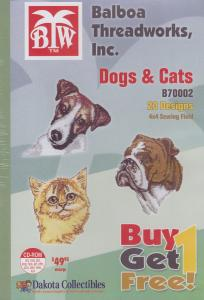 Dakota Collectibles / Balboa Threadworks B70002 Dogs & Cats  Multi-Formatted CD Buy 1 Get 1 Free