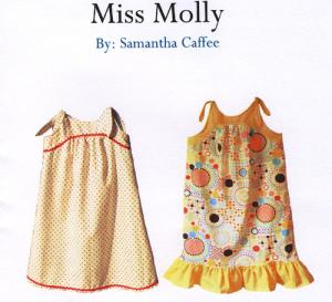 The Handmade Dress HDP7 Miss Molly, Pattern Size 18mo-6yrs