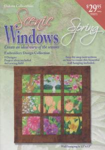 Dakota Collectibles 970373 Scenic Windows Spring Embroidery Designs CD