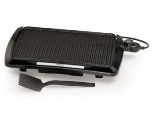 Presto 09020 Indoor Griddle Grill, Cast Aluminum Base, Easy Clean Non Stick Cooking Surface, Master Heat Auto Temperature Control, Dishwasher Safe*