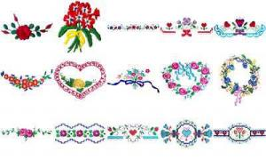 OESD 11212 Floral 1 Embroidery CD Design Pack