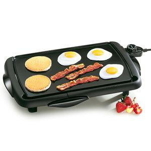 "Presto 07047 Cool Touch Family Size Griddle Grill, 10.5x16"" Non Stick Cooking Surface, Sloped Ledge, Master Heat Control, Drip Tray, Dishwasher Safe*"