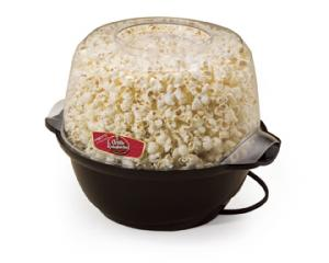 Presto 05201 Orville Redenbachers Stirring Popcorn Popper / Bowl, 6 Quarts, Motorized Arm Stirs Unpopped Kernels, Non Stick, Butter Meter, Clear Lidnohtin