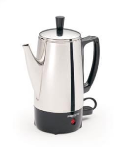 Presto, 02822, 2-6 Cup, Stainless Steel, Perk Coffee, Maker, Brewer