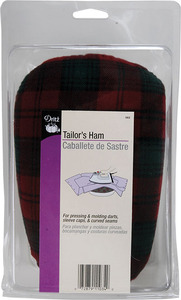 Dritz, D562, Tailors, Ham, Quantity, 2, Tartan, Wool, Cotton, Covers, Molding, Shaping, darts, seams, sleeve, caps, collar, Dress, making