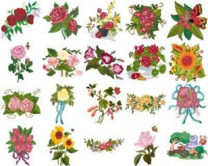 OESD 11014 Garden 5 Embroidery CD Design Pack