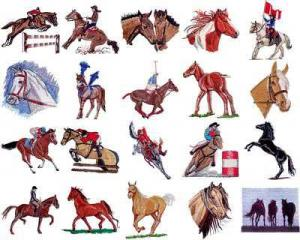 OESD 11005 Horses 1 Embroidery CD Design Pack