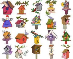OESD 11106 Bird Houses Embroidery CD Design Pack