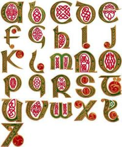 OESD 11110 Celtic Letters Embroidery CD Design Pack