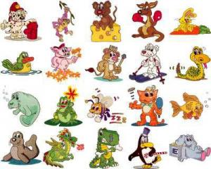 OESD 11112 Cuddly Critters 1 Embroidery CD Design Pack