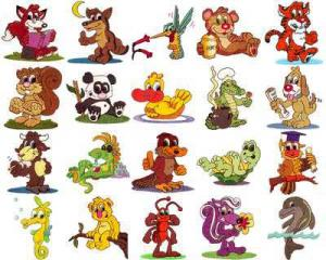 OESD 11113 Cuddly Critters 2 Embroidery CD Design Pack