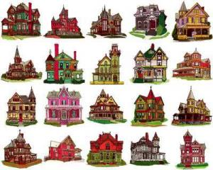 OESD 11134 Houses Embroidery CD Design Pack