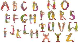 Amazing Designs / Great Notions 1277 Clown Alphabet I Multi-Formatted CD