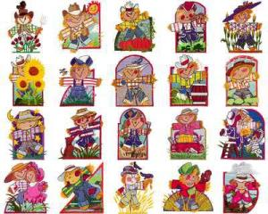 OESD 11165 Scarecrows Embroidery CD Design Pack