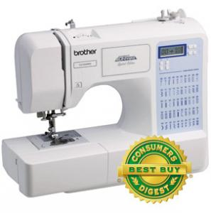 Brother CE5500PRW FS 50/87 Stitches Project Runway Sewing Machine  LCD, Consumer Digest Best Buy, 5x1StepBH, Font,  Theader, Drop Feed, FREE $30 Case