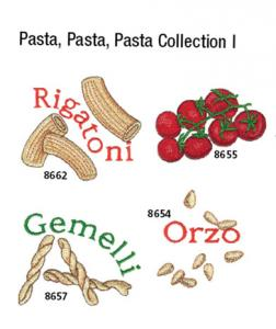 Amazing Designs / Great Notions 1393 Pasta, Pasta, Pasta Collection I Multi-Formatted CD