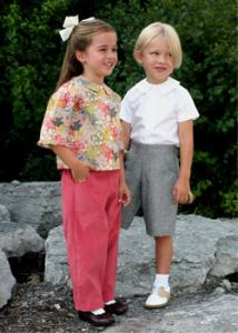 Childrens Corner CC273 Campbell Shirt Blouse, Boys Girls, Pants Shorts  with Tailored Pants and Shorts Pattern
