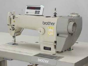 Brother S-6200A-405, Straight stitch, Sewing Machine, ut under Trimmer, auto Backtack, Needle positioner Up, Knee Lever,  6mm 13mm foot Lift,  Rear Motor, 5000 SPM, 220V Control Box, control Panel, 110V Transformer, Table