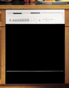"Appliance Art Large BLACK Magnetic Dishwasher Cover Panel, 26"" x 23.5"", easy to cut and can be trimmed to fit, clean easily with water and soap"