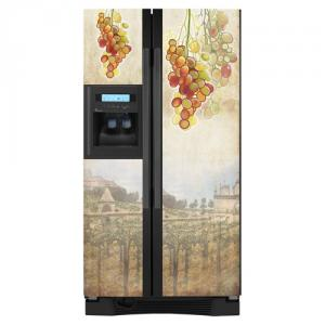 Appliance Art 10073 Tuscan Grapes Vinyl Refrigerator Cover Panel, Side by Side