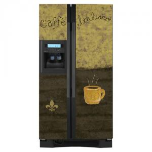 Appliance Art Caffe Vinyl Refrigerator Cover Panel, Side by Side