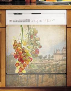 "Appliance Art Tuscan Grapes Large Magnetic Dishwasher Cover Panel, 26"" x 23.5"""