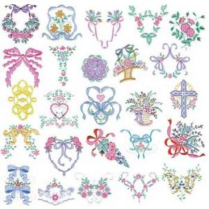 Amazing Designs PFMC MP3 Martha Pullen's Heirloom Collection I Pfaff Embroidery Cards