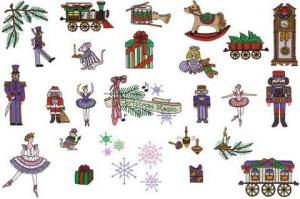 Amazing Designs BMC NZ6 Nancy Zieman Collection VI Christmas Magic Brother Embroidery Card