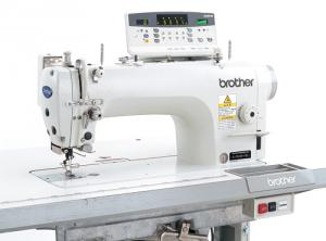 Brother S-7220B-405, S7220B405, BS7220B-405,  Single Feed Lock Stitcher Industrial Sewing Machine & Stand 5000SPM,  Auto Backtack to 5mm, 6-13mm Foot Lift, Thread Trim, No Oil