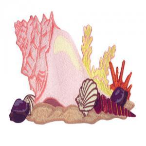 Amazing Designs ADC 201 Serene Seashells Jumbo Embroidery Designsnohtin
