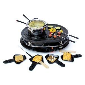Koolatron TCRF08BN Total Chef Raclette Party Grill with Fondue, 8 person