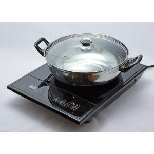 Koolatron TCIS11BNG Total Chef Single Induction Cooktop with bonus pot & lid
