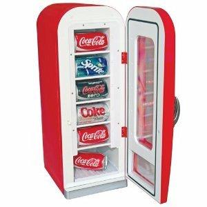Koolatron CVF18 Coca Cola Retro Vending Fridge 10 Can