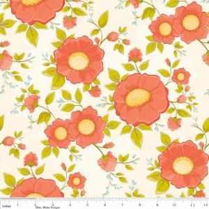 "Riley Blake Designs 15Yd Bolt 6.67A Yd C4500 Cream Daydream Main 100%Cotton pattern 45""Fabric"
