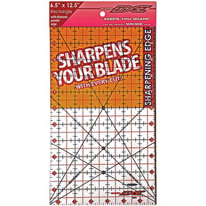 "Sullivans 38202 Cutting Edge 6.5"" x 12.5"" Gridded Ruler, Blade Sharpener"