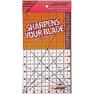 "6.5X12.5  -RULER CUTTING EDGE 6, Sullivans 38202 Cutting Edge 6.5"" x 12.5"" Gridded Ruler, Blade Sharpener"