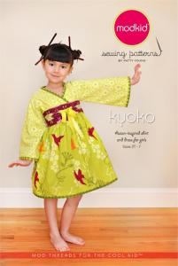 modkid MOD03 Kyoko Asian-Inspired Shirt And Dress Sewing Pattern 2T to 7